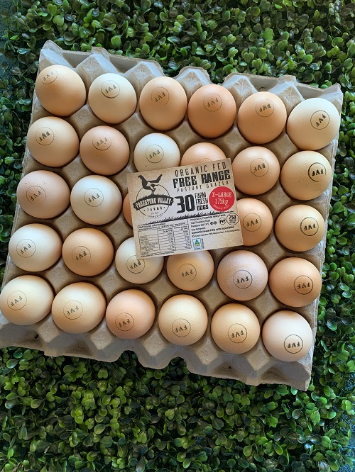 Organic Eggs - X-Large tray 30 eggs